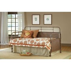 Kensington Old Rust Daybed with Suspension Deck and Roll Out Trundle