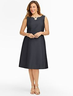 Talbots - Doupioni Fit-And-Flare Dress | 30% Off Dresses, Shoes & Accessories | Woman Petites