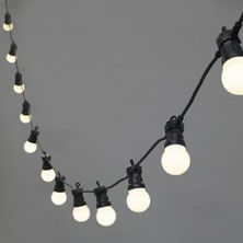 20 LED Warm White Connectable Festoon Lights, Type U battery operated