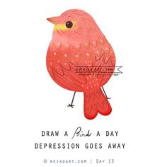 Draw a Bird a Day by Neiko Ng (via Neiko Art). Cow Drawing, Painting & Drawing, Vogel Illustration, Bird Drawings, Bird Design, Learn To Paint, Illustrations, Whimsical Art, Elementary Art