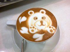 How to make cute latte art - Cappuccino latte art - YouTube