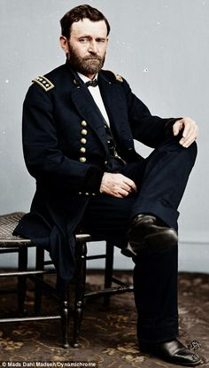 General of the Army, Ulysses S. Grant, Commander of the Union Forces - and a highly-functioning alcoholic. British colorist Jordan Lloyd, 27, met fellow colorist Mads Madsen, 19, from Denmark.