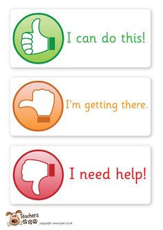 Teachers Pet - Thumbs up assessment cards - FREE Classroom Display Resource - EYFS, KS1, KS2, thumbs up, self, assessment, traffic, lights