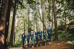 Groomsmen Looking Sharp   Amphitheatre of the Redwoods at Pema Osel Ling   Wedding and Event Venue   Santa Cruz Mountains, CA   Redwood Forest Wedding   Photo Courtesy of Ahava Studios