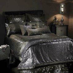 dress sheets bedding sequin house details silver glitter glittery girly shiny