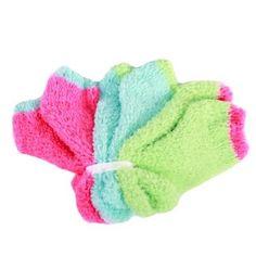 June & Daisy Womens Cozy Ankle Socks 3PK (One size fits Most) (Paradise Pink/Capri Turqoise/Key Lime) June & Daisy. $14.99