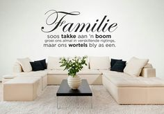 Soo mooi*wil dit in my sitkamer doen Afrikaanse Quotes, Vinyl Art, Wall Vinyl, Wall Decor, Wall Art, Diy Signs, Best Quotes, Nice Quotes, Wall Prints