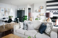 A neutral apartment in Toronto.