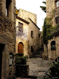 Pals, one of the best preserved medieval villages in Catalonia, Spain.  Go to www.YourTravelVideos.com or just click on photo for home videos and much more on sites like this.