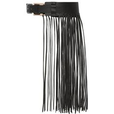By Malene Birger Sunda fringed leather belt ($130) ❤ liked on Polyvore featuring accessories, belts, cinturones, fringe belt, black fringe belt, boho belt, black leather belt and genuine leather belt