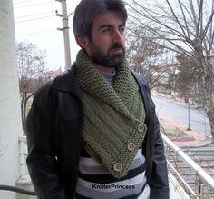 Knitting mens cowl mens neck warmers unisex by KnitterPrincess