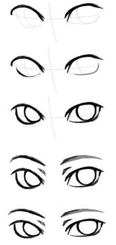 Picture of the rysowanie ludzi painting by Klaudia Wojcieska Face Drawing Eyes Drawing Tutorial Drawing Techniques, Drawing Tips, Drawing Sketches, Eye Sketch, Drawing Ideas, Sketching, Eye Drawing Simple, Anime Drawing Tutorials, Disney Drawing Tutorial