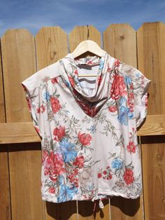 Vintage Tan Floral Blouse  L 476 by MineAlways on Etsy
