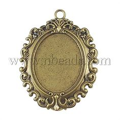 1set large  oval brooch cabochon setting 30x40mm tray jewellery making craft UK