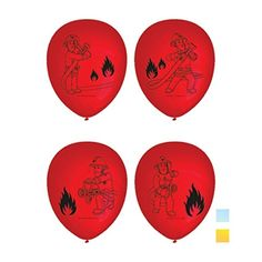 Amscan International 6 Fireman Sam Latex Balloons * You can find out more details at the link of the image.  This link participates in Amazon Service LLC Associates Program, a program designed to let participant earn advertising fees by advertising and linking to Amazon.com.