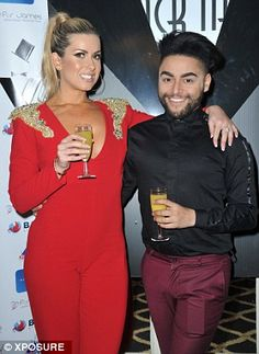 Raising a glass: Jade Ainsworth and Big Brother star Mark Byron helped make up the numbers...