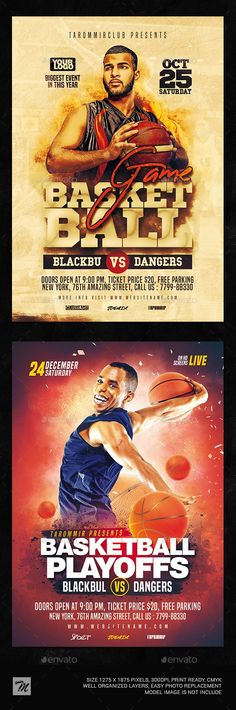 Buy Basketball Flyer Bundle Vol 2 by tarommir on GraphicRiver. Basketball Flyer Bundle Vol 2 Features Easy editable text Organised layers and grouped Print size: inch Bleed are. Basketball Playoffs, Basketball Games, Sports Flyer, Free Fonts Download, Basketball Plays