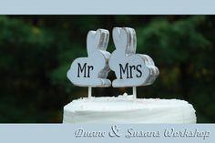 mr and mrs Love Bunnies cake topper, custom, party favor, shower favors, wedding, home decor, spring decor