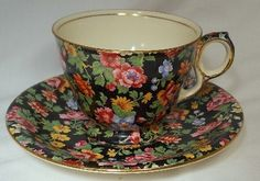 "Royal Winton Chintz China ""Esther"" Pattern 473 Cup Saucer Set | eBay"