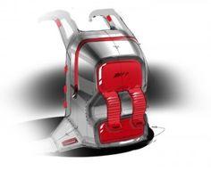 Sketch of a backpack by Designer Spencer Nugent