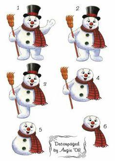 Happy snowman Christmas Sheets, Christmas Snowman, Christmas Crafts, 3d Cards, Xmas Cards, Christmas Gift Card Holders, Christmas Decoupage, Decoupage Printables, 3d Prints