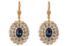 Midnight & Crystal Belle Drop Earrings | A Fine Romance | One Kings Lane