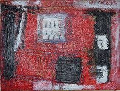 Abstract Red Painting: Becker Beste No. 16, expressionist art, modern colorist painting, acrylic painting, Berlin Art, wall art, home decor