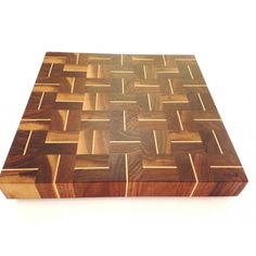 Arbol 16 x 16 in. walnut and maple end-grain cutting board - Artisans