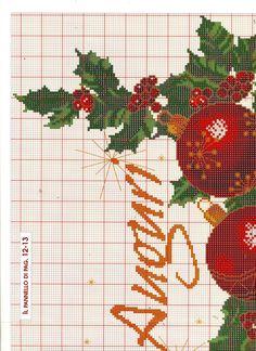 Božićni motiv sa kuglicama.