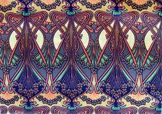 Patterns and prints Art Nouveau Pattern, Art Nouveau Design, Pattern Art, Print Patterns, Pattern Design, Design Art, Art Deco, Graphic Design, Jugendstil Design