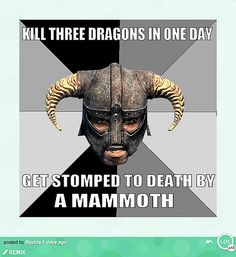"""*SIGH* It's sad how many times this happens...also I've just been informed now (11:12 pm) by my sister that I am a direct but distant descendant of a norse jarl so I can """"play Skyrim with pride"""" YAY!"""