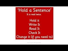 Hold a Sentence - Green Code Level - YouTube - The 'Hold a Sentence' activity, within the Speedy Six, covers a range of reading and spelling related skills including working memory and visualisation. They hold it, write it, read it check it, change it. No lines or numbers as it's at their code level so they should be able to just write it. We want them to write quickly, and if they couldn't write that then they aren't 'automatic' enough yet with words built with sound pics at their code…