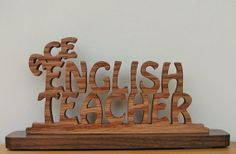 Ace English Teacher Desk Sign Cut On Scroll Saw by DukesScrollSaw, $7.00