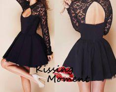 Black Little Black Dress - Black Lace Sleeveless Dress with ...