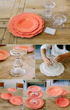 Diy cake stand - DIY com Pratos – Diy cake stand Diy Projects To Try, Craft Projects, Welding Projects, Bolo Diy, Diy And Crafts, Arts And Crafts, Decor Crafts, Crafts To Make And Sell Unique, Summer Crafts