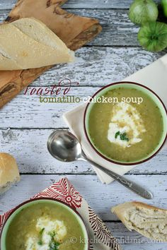 Delicious, chicken and tomatillo soup.  Had this today and it was amazing.