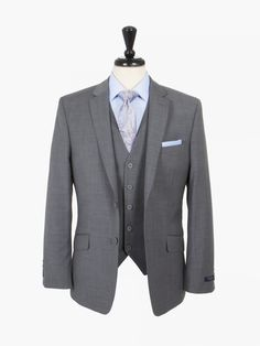 a16301e37 Ted Baker Light Grey  Elevated  Three Piece Suit