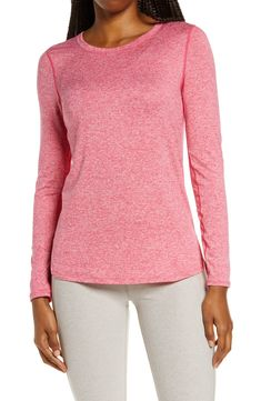 Zella Liana Long Sleeve Recycled Blend Performance T-Shirt | Nordstrom Cut Shirts, Keep Your Cool, Long Sleeve Shirts, Financial Inclusion, Nordstrom Store, Sleeves, Recycling, Scoop Neck, Pullover