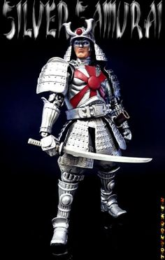 Silver Samurai custom action figure from the Marvel Legends series using Tamashi Samurai Stormtrooper as the base, created by Toycooker. Marvel Villains, Mcu Marvel, Marvel Characters, Wolverine Comics, Marvel Comics Art, Silver Samurai, Zbrush, Toys R Us Kids, Samurai Helmet