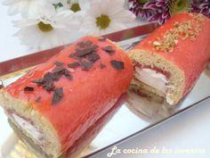 La Cocina de los inventos: Bracitos de Nata y Mermelada de Fresa.