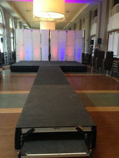We provided a stage/runway, lighting, a PA system, and our color wall for a fashion show at the Calhoun Beach Club in Minneapolis.