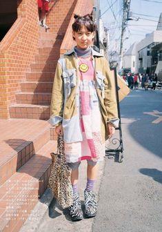 a flashy, boyish mori Japanese Street Fashion, Asian Fashion, Love Fashion, 90s Fashion, Fashion Outfits, Tokyo Street Style, Harajuku Fashion, Alternative Outfits, Look Cool