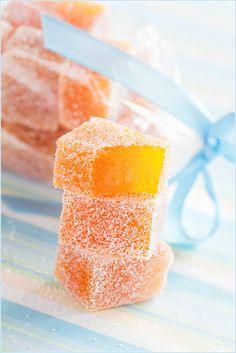 Homemade fruit jelly candy (Мармелад) by Jelly Candy Recipe, Jelly Recipes, Candy Recipes, Peach Candy Recipe, Homemade Jelly, Homemade Sweets, Homemade Candies, Köstliche Desserts, Delicious Desserts