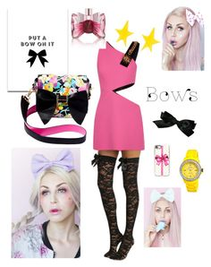"""""""Punk rock bows"""" by sarahcanavan on Polyvore featuring FAUSTO PUGLISI, Alexis Bittar, Jet Set, Viktor & Rolf, SS Print Shop, Betsey Johnson, Casetify and Chanel"""