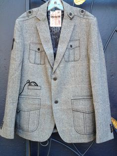 This Desigual blazer, Wool, would make a great Christmas gift for the man in your life. It's at Angel Vancouver (angelvancouver.com) in Gastown.