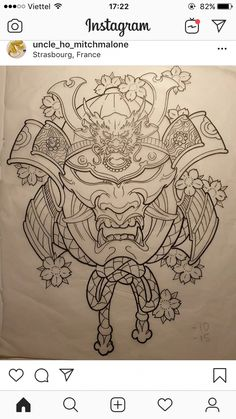 I truly fancy the tones, outlines, and linework. This really is a brilliant idea. - I truly fancy the tones, outlines, and linework. This really is a brilliant idea… – I truly fa - Samurai Mask Tattoo, Hannya Mask Tattoo, Hanya Tattoo, Japan Tattoo Design, Tattoo Design Drawings, Tattoo Sketches, Japanese Tattoo Art, Japanese Tattoo Designs, Japanese Sleeve Tattoos