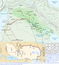map in time of ezra | ii the frontier of 1948 shows the route of jesus