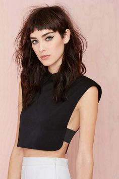 Spaces Crop Top - Black - What's New