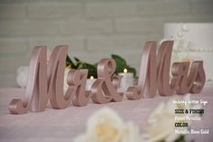 wedding sign rose gold mr & mrs mr and mrs by WeddingGlitterSign