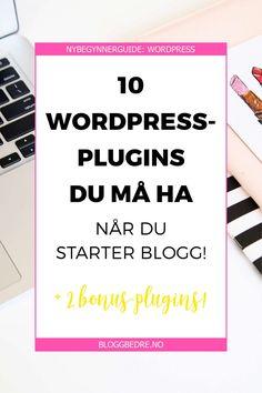 Hvis du er ny og akkurat har begynt å bruke WordPress, kan plugins virke litt…